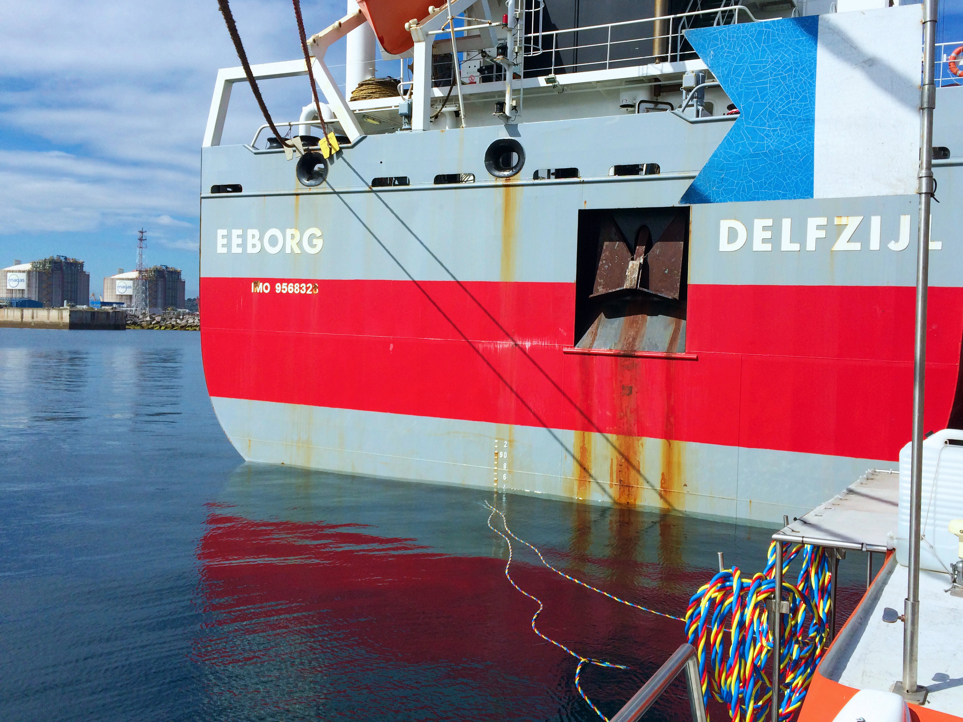 Inspección de fouling de buque para investigación científica