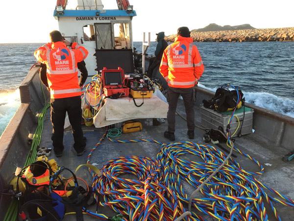 Underwater work on desalination plant catchment inlets