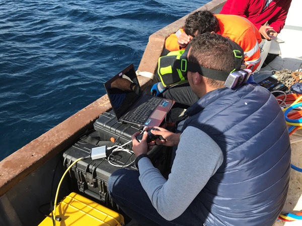 Inspección con ROV de inmisario y toma de captación de agua de desaladora