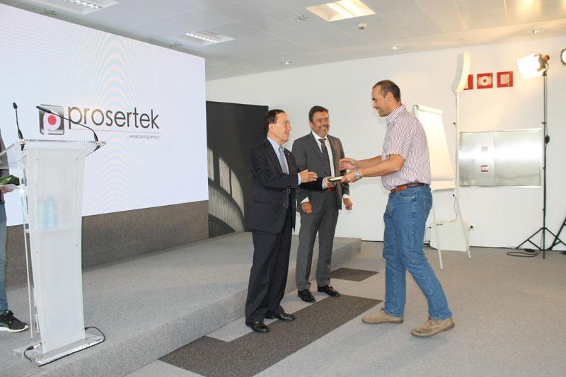 Entrega de premios a los trabajadores de Prosertek