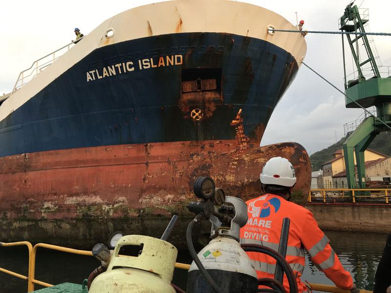 Inspección de carro de varada para botadura/varada de buque