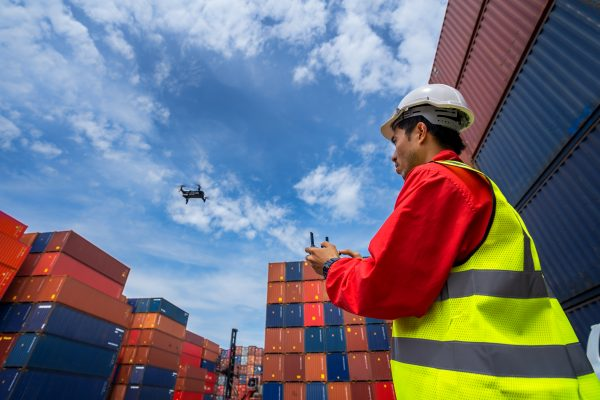 The new guards at maritime ports: tracker drones
